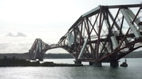 Picture of Forth Rail bridge while passing underneath
